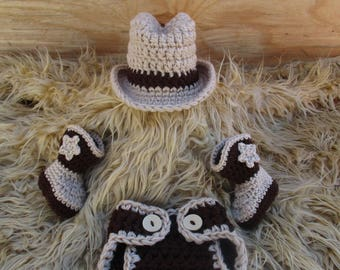 Crochet Baby Cowboy Outfit Cowboy Hat and Boots Set Newborn Cowboy Outfit Baby Cowboy Outfit Photo Prop Cowboy Photo Prop Cowboy Clothes