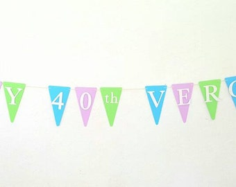 Customized Personalized Happy Birthday Banner