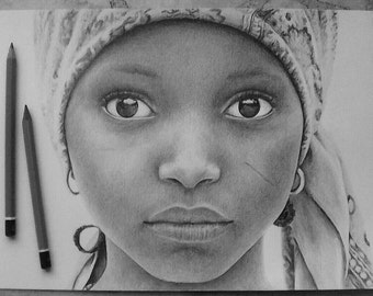 Custom Realistic Pencil Portrait. Size A4 Made to Order. Free Worldwide Shipping