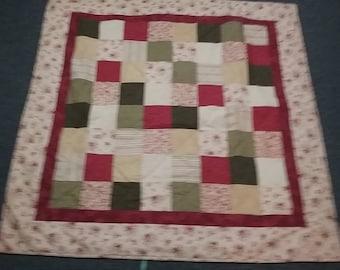 Floral Nine Patch Quilt