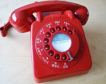 GPO/BT 706 RED dial telephone