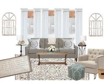 Living Room Interior Design L Virtual Interior Design L Interior Design On  A Budget L Affordable