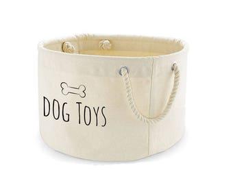 Dog Toys Basket, Dog Toys Storage Bag, Dog Toys Bin, Dog Toys Organiser, Pet Storage, Printed
