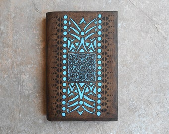 Notebook - diary - travel notebook - blue print