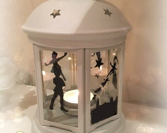 Peter Pan Inspired Lantern, Tea light Holder,  Lantern, Candle Glow Gift set