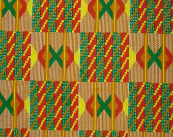 African cotton African Christmas fabric by the metre