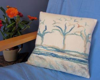 Felt Cushion, Art Cushion, Wool Cushion