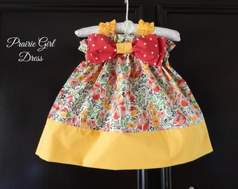 Baby Floral Dress, Baby Shower Gift, Toddler Dress, Girls Clothing