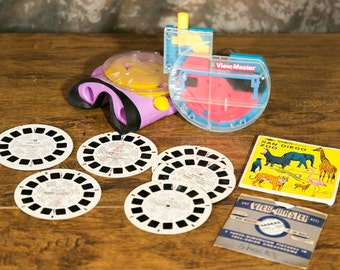 """Rare Clear ViewMaster 3D Viewers with  Reels - Sharks, Zoo & Rare """"Out of Print"""" Reels"""