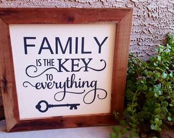 Family Is The Key To Everything|Family Wall Decor