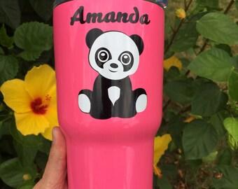 Panda decal for mug, yeti, rtic, car, laptop, phone