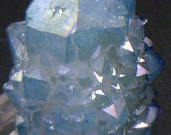 Blue Aqua Aura Cactus Quartz, Crystals for Sale
