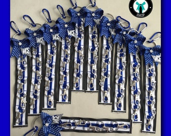 Cheer Bow Holder Klinger™ for backpack , Teal White Black Blue, Personalized, Cheerleading, Cheer Accessories, Price is for 1 - Sale!