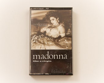 "MADONNA ""Like A Virgin"" (1984) Audio Cassette Tape / ""Material Girl"" ""Angel"" ""Dress You Up"" / RETRO 80s  Pop Music MTV"