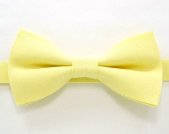 Easter bow tie , Soft Yellow bow tie,Wedding bow tie for Men,Toddlers ,Boys,baby