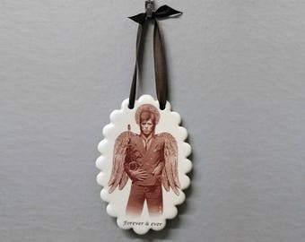 Bowie Angel Ornament