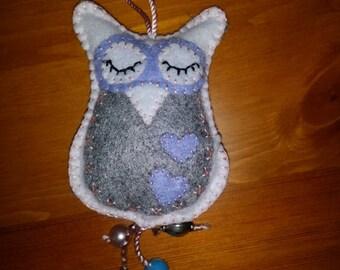 Lilac OWL keychain