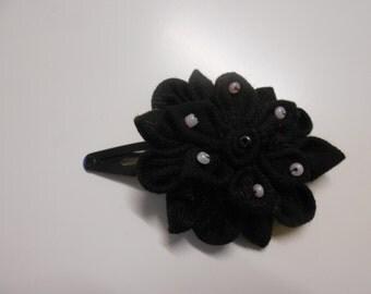 Complex Kanzashi Barrette - handmade