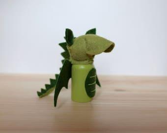 Dragon Peg Doll, Waldorf Toy, Dragon Toy