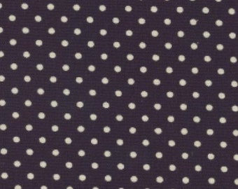 Navy Polka Dot Canvas - by Fat Quarter