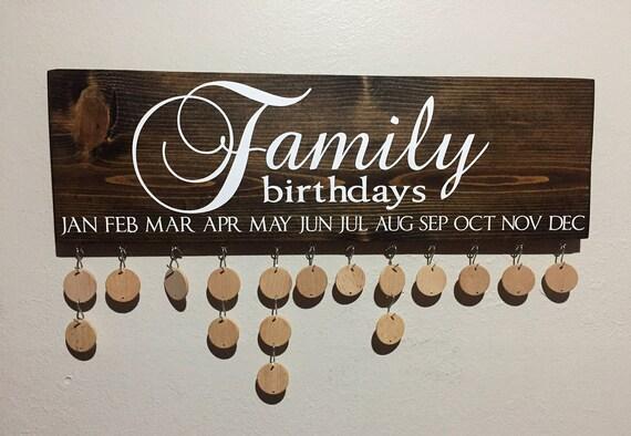 Birthday Board Family Birthday Sign Family Birthday Board