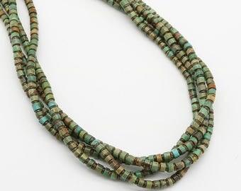native american jewelry,turquoise jewelry,santo domingo jewelry,turquoise,santo domingo,turquoise necklace, Santo Domingo Turquoise Necklace