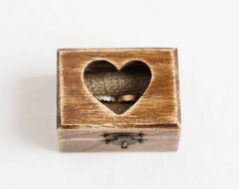 Wedding ring box, Ring Box, Ring Bearer, Wooden ring bearer box, Ring Bearer Pillow, Heart, Wedding Ring Box, Wedding Ring Holder, Rustic