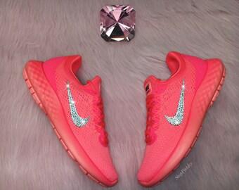 SALE Swarovski Nike Lunar Skyelux Shoes Customized With Swarovski Crystals