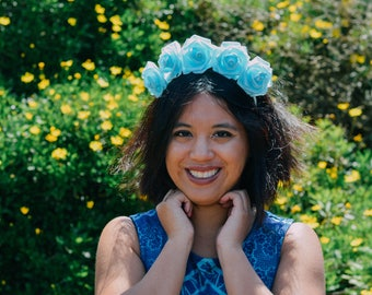 MERCURY // aqua flower crown