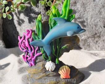 Diving Dolphin for Miniature Garden, Fairy Garden