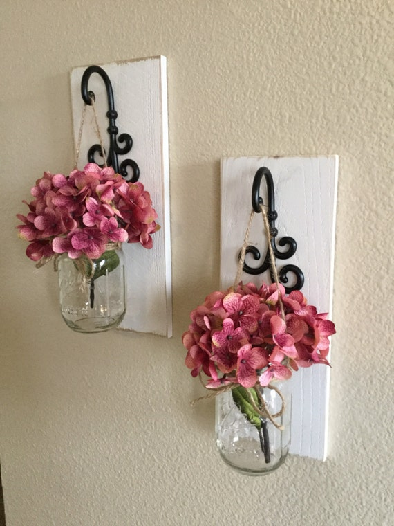 Wall Sconces Decor : Mason Jar Sconces Home Decor Wall Decor Mason Jar Wall