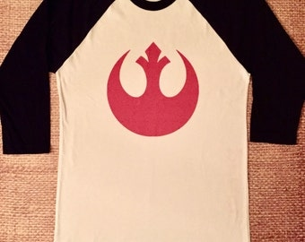 Star Wars Raglan.  Rebellion t-shirt. Rebel Tee. Luke Skywalker Han Solo Rebellion Shirt. Disney Tee.
