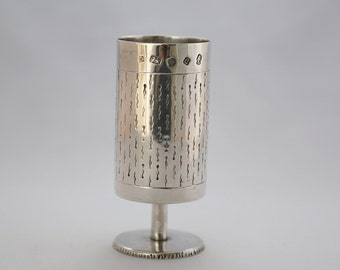 Modernist silver Goblet Lon. 1977