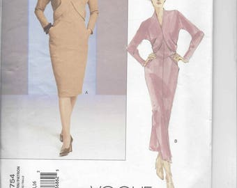 Vogue Couture Dress pattern 2754  OOP  Size 12-14-16