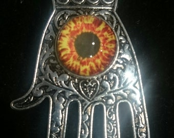 Pewter Octopunx Monster Eye Hand Warding Pendant