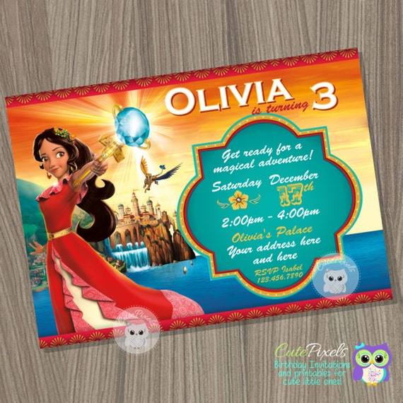 Elena of Avalor Invitation Princess Elena Invitation Disney