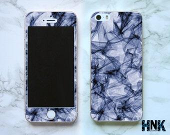 Iphone SE full skin / Iphone 5s decal / Iphone 5 decorative cover / blue geometric art case IS004