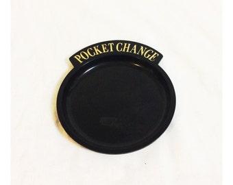 Vintage Plastic Pocket Change Dresser Tray