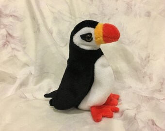 TY Beanie Baby Puffer the Puffin with Errors