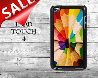 Fun colorful pencils - SALE iPod Touch 4G case - color pencil set colours phone iPod Touch case,  iPod cover