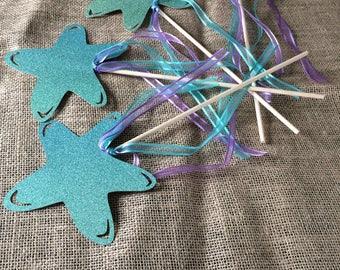 Starfish Mermaid Wands
