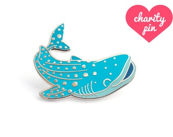 Whale Shark Enamel Pin (whale shark pin lapel pin badge enamel jewelry cute shark  jewelry endangered conservation cloisonne backpack pins)