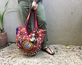 Boho Bag, Banjara Tote, Vintage Tote, Slouch Bag, Indian Bag, Gypsy Bag, Ethnic Bag, Banjara Bag, Tribal Bag called Jemma