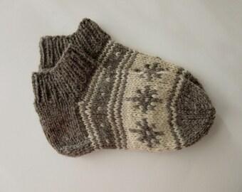 Wool Slippers, Handmade Wool Socks, Women's Slippers, Men's Slippers, House Shoes, Knitted  Slippers, Knit Slippers, Christmas Gift