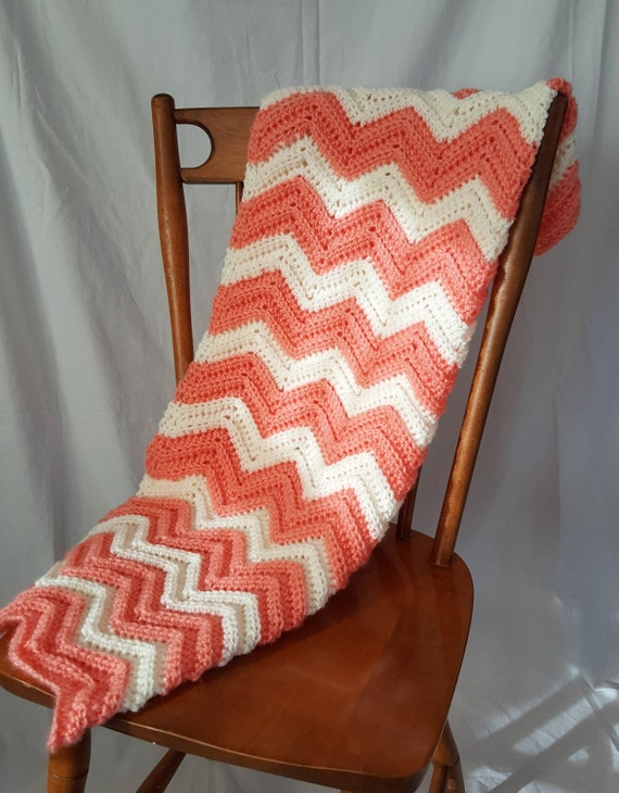 Baby Blanket - Peaches and Cream
