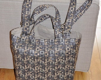 Rectangles and Dots Geometric Tote