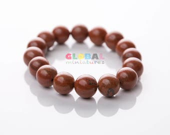 "1/2"" Brown Stone Bead Bracelet"