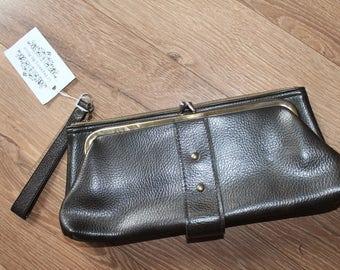 VTG 80s Bown/Grey Clutch Bag