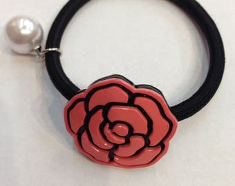Cute Rose Flower Hair Ties