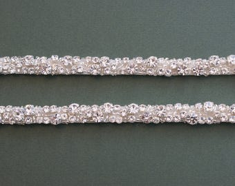 Diamante Attachable Bridal Straps - Made To Measure - DELPHINE